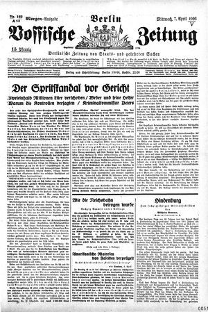Vossische Zeitung vom 07.04.1926