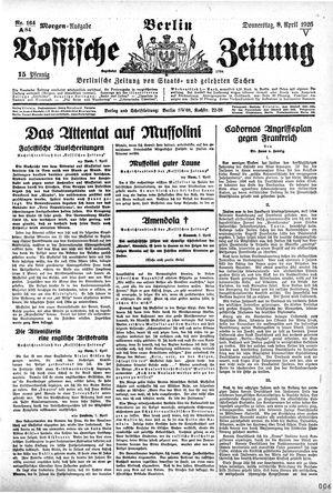 Vossische Zeitung vom 08.04.1926