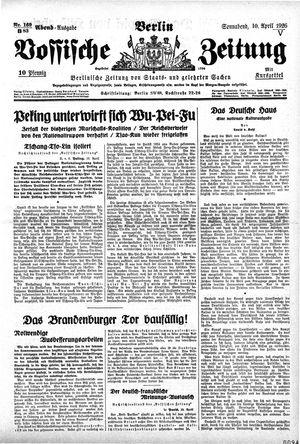 Vossische Zeitung vom 10.04.1926
