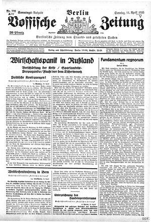 Vossische Zeitung vom 11.04.1926