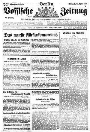 Vossische Zeitung vom 14.04.1926