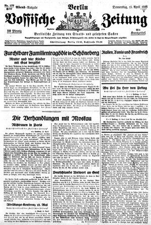 Vossische Zeitung vom 15.04.1926