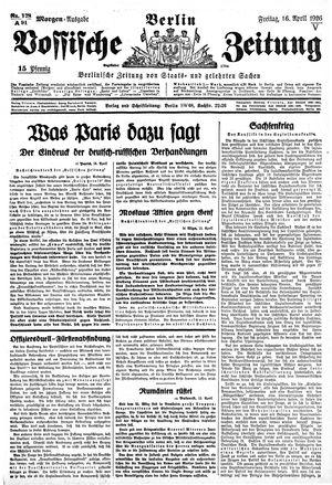 Vossische Zeitung vom 16.04.1926