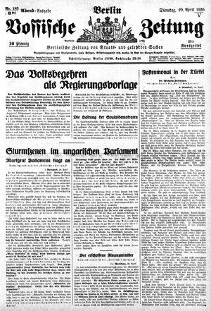 Vossische Zeitung vom 20.04.1926
