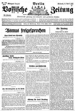 Vossische Zeitung vom 21.04.1926