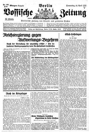 Vossische Zeitung vom 22.04.1926