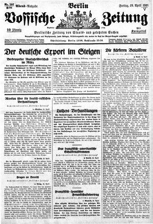 Vossische Zeitung vom 23.04.1926