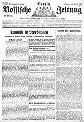 Vossische Zeitung (25.04.1926)