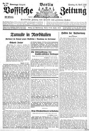 Vossische Zeitung vom 25.04.1926