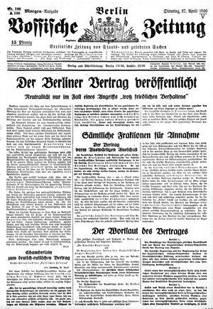 Vossische Zeitung vom 27.04.1926