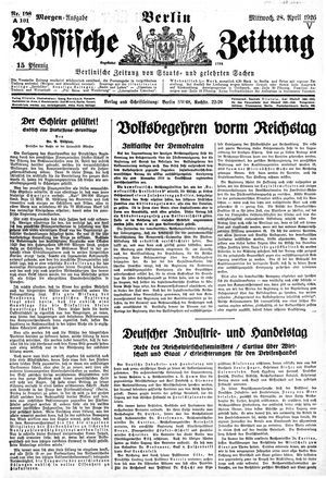 Vossische Zeitung vom 28.04.1926