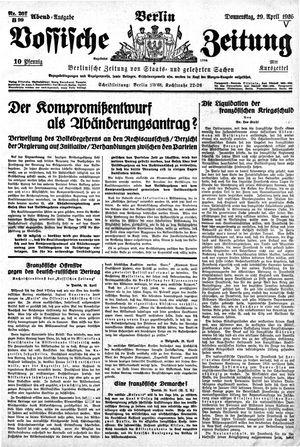 Vossische Zeitung vom 29.04.1926