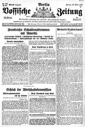 Vossische Zeitung vom 30.04.1926