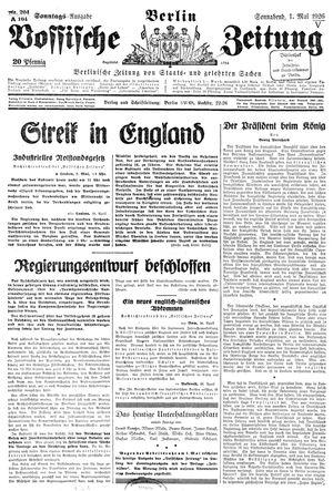 Vossische Zeitung vom 01.05.1926