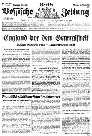 Vossische Zeitung vom 03.05.1926