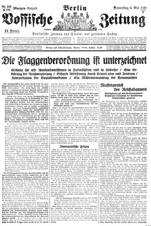 Vossische Zeitung vom 06.05.1926