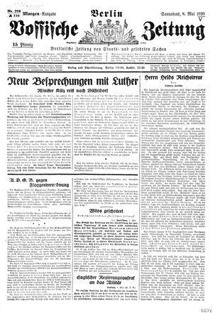 Vossische Zeitung vom 08.05.1926