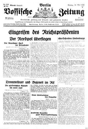 Vossische Zeitung vom 10.05.1926