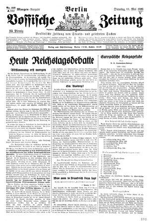 Vossische Zeitung vom 11.05.1926