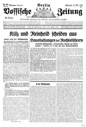 Vossische Zeitung vom 12.05.1926