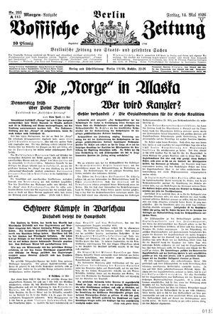 Vossische Zeitung vom 14.05.1926