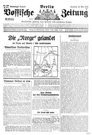 Vossische Zeitung vom 16.05.1926