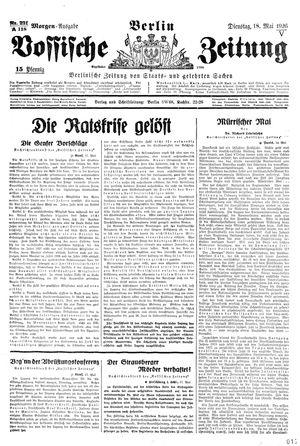 Vossische Zeitung vom 18.05.1926