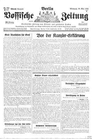 Vossische Zeitung vom 19.05.1926