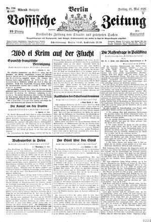 Vossische Zeitung vom 21.05.1926