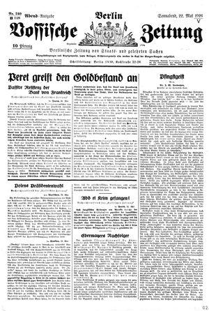 Vossische Zeitung vom 22.05.1926