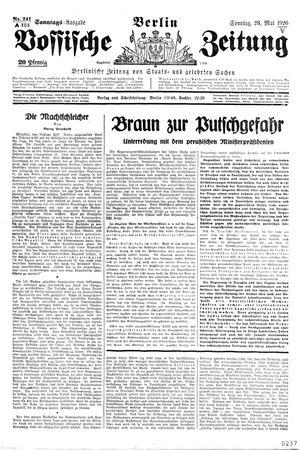 Vossische Zeitung vom 23.05.1926