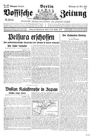 Vossische Zeitung vom 26.05.1926