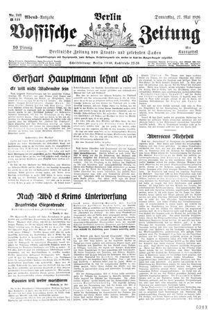 Vossische Zeitung vom 27.05.1926