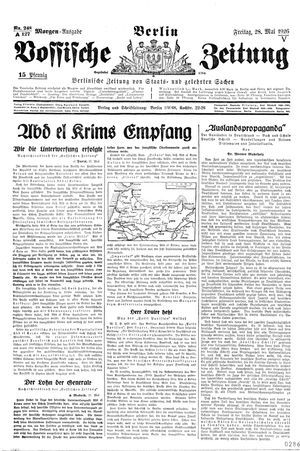 Vossische Zeitung vom 28.05.1926