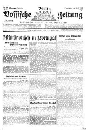 Vossische Zeitung vom 29.05.1926