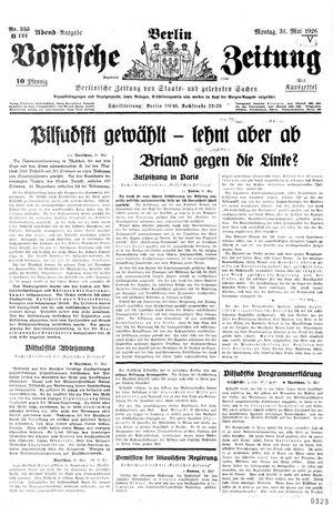 Vossische Zeitung vom 31.05.1926