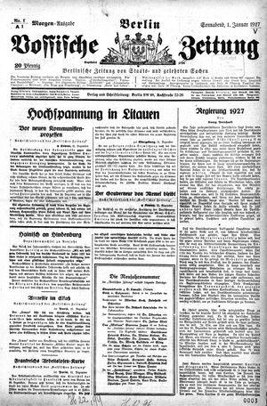 Vossische Zeitung vom 01.01.1927