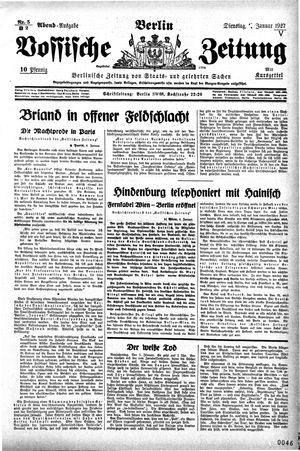 Vossische Zeitung vom 04.01.1927