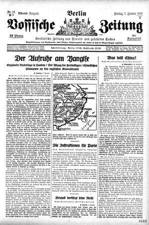Vossische Zeitung vom 07.01.1927