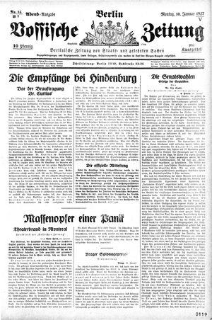 Vossische Zeitung vom 10.01.1927
