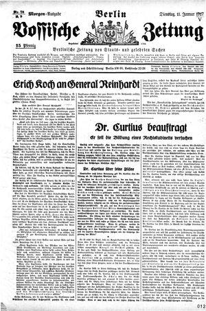 Vossische Zeitung vom 11.01.1927