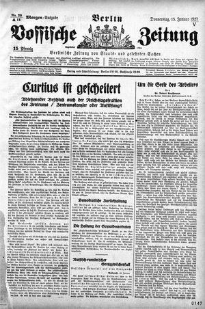 Vossische Zeitung vom 13.01.1927