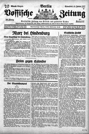 Vossische Zeitung vom 15.01.1927