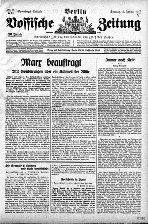 Vossische Zeitung vom 16.01.1927