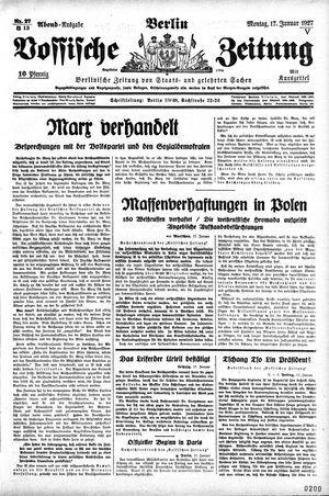 Vossische Zeitung vom 17.01.1927