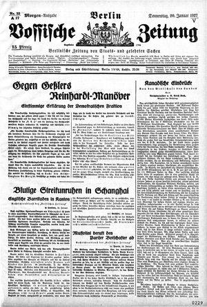 Vossische Zeitung vom 20.01.1927