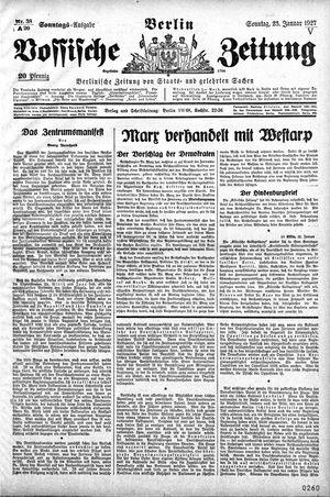 Vossische Zeitung on Jan 23, 1927