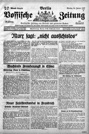 Vossische Zeitung vom 24.01.1927