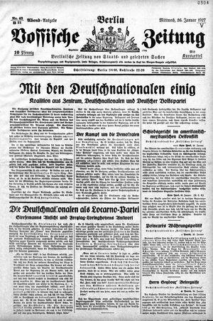 Vossische Zeitung vom 26.01.1927