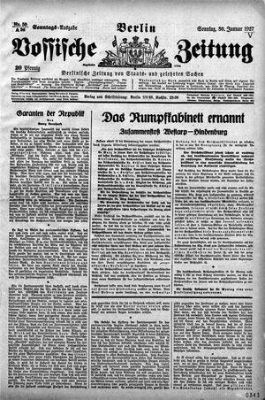 Vossische Zeitung on Jan 30, 1927